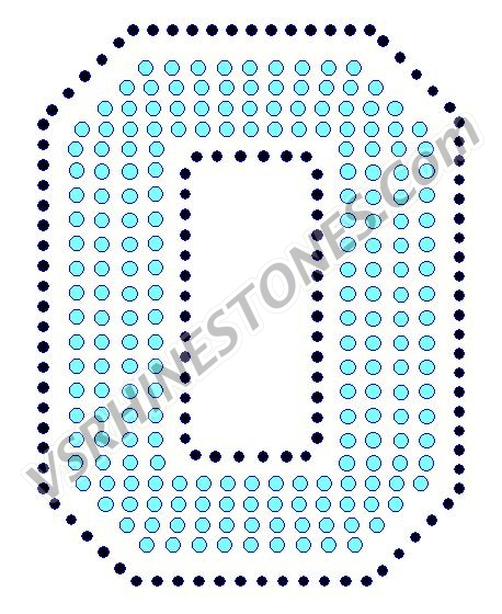 0 - Number Rhinestone Transfer